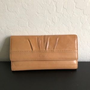 Coach tan leather wallet